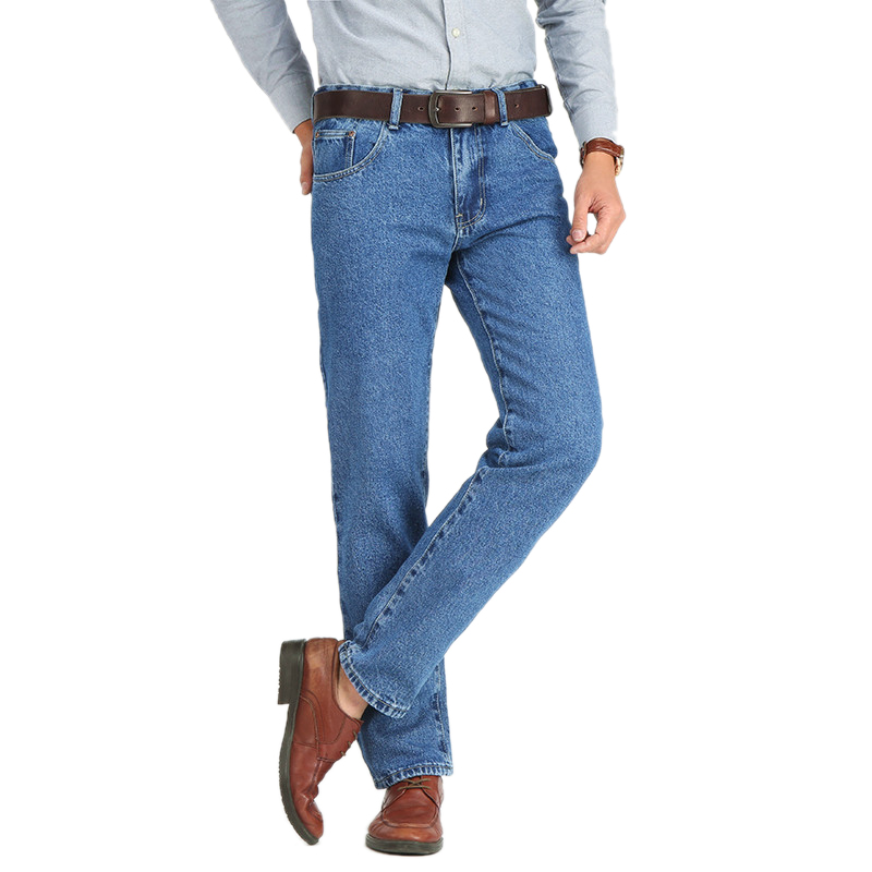 Image 3 - Men Business Jeans Classic Spring Autumn Male Skinny Straight Stretch Brand Denim Pants Summer Overalls Slim Fit Trousers 2019-in Jeans from Men's Clothing