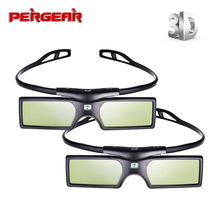 2pcs/lot G15 DLP DLP Link 3D Glasses Active Shutter 3D Glasses for Optoma Sharp LG Dell Acer BenQ Vivitek DLP link Projectors