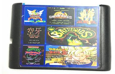 Naujausios 15 žaidimų kasetės 16 bitų MD žaidimų kortelės Sega Mega diskui Sega Genesis