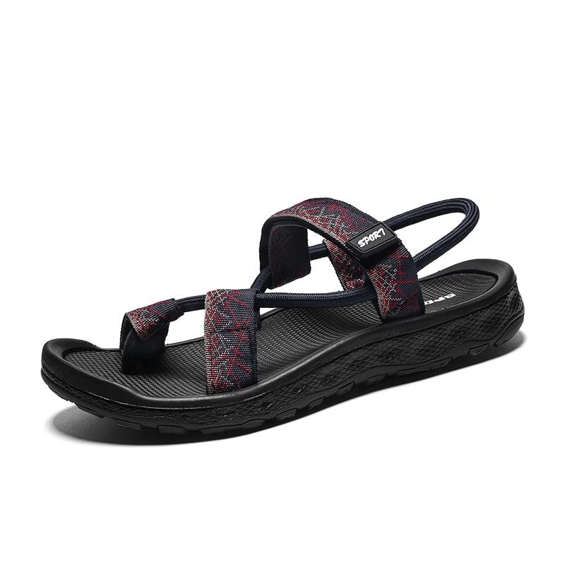 Romaines Chaussures En Marque Vooqiang Plage Véritable Sandales red brown Tongs Casual Black Hommes Zapatos Cuir Grande Taille D'été qUF1Y