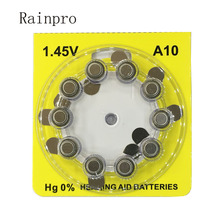Rainpro 100 sztuk/partia A10 10 PR70 cynku akumulator powietrzny do wewnętrznej typ ucha aparat słuchowy.