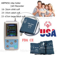 ABPM50 24 hours Ambulatory Blood Pressure Monitor Holter ABPM Holter BP Monitor with software contec