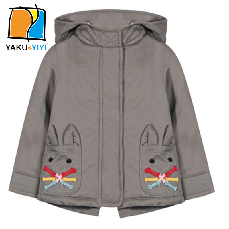 d93d84d28950 YKYY YAKUYIYI New Fashion Girls Coat Hooded Zipper Front Baby Kids ...