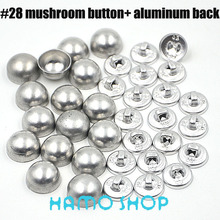 100 Sets/lot #28 Mushoroom Shape 1.6cm/16mm Aluminum Round Fabric Covered Cloth Button Cover Metal Free Shipping