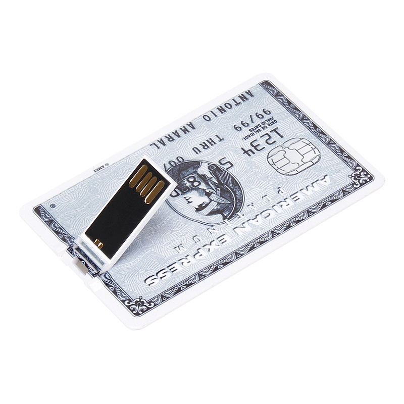 Super Slim Credit Card USB Flash Drive 2.0 Real Capacity 32GB pen drive 4GB 8GB 16GB 64GB 128GB pendrive waterproof memory Stick-in USB Flash Drives from Computer & Office