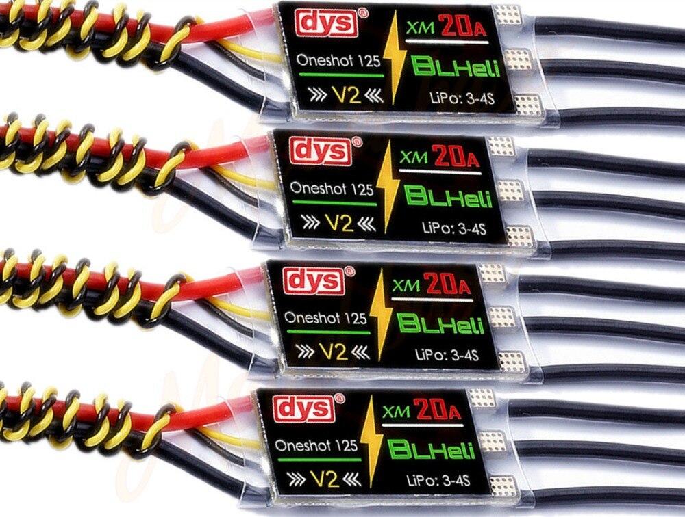 DYS XM Seris XM20A BLHeli mini 20A ESC V1 For High KV Power Electronic Speed Con
