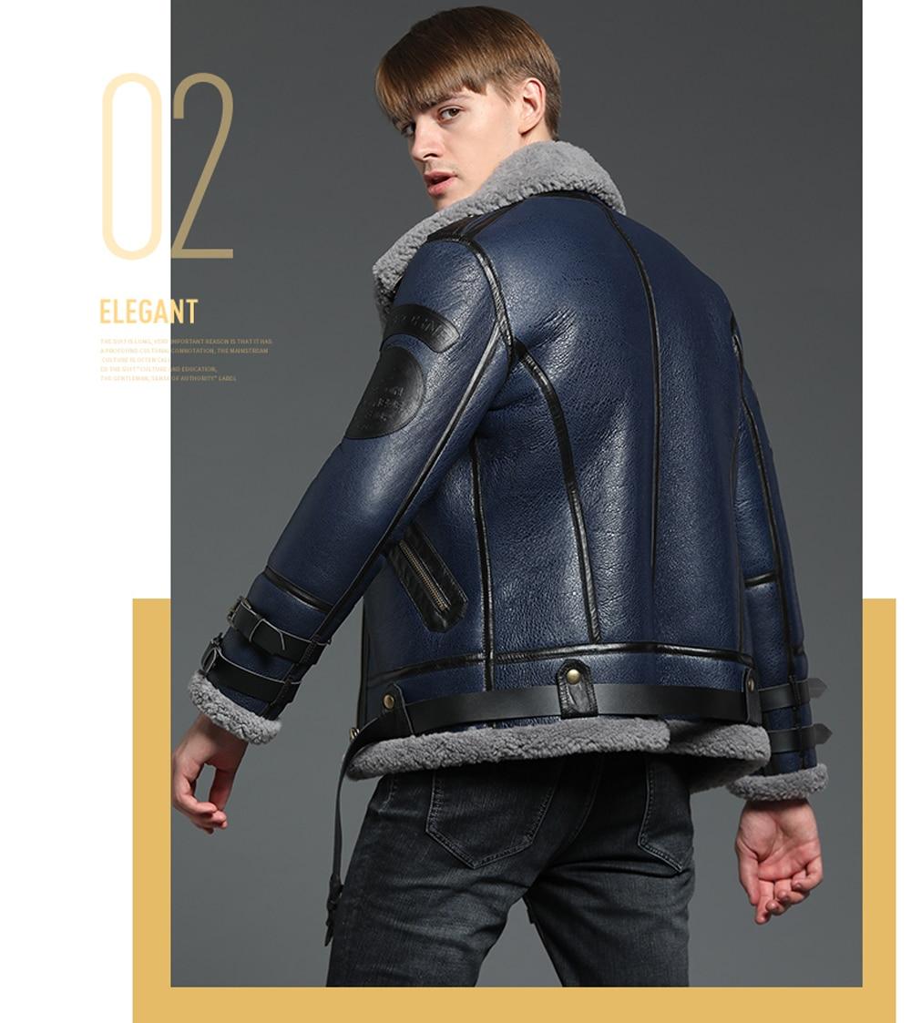 HTB1TYXhXuL2gK0jSZFmq6A7iXXaj 2019 Fashion 100% Quality Real Sheepskin Fur Men Coat Genuine Full Pelt Sheep Shearling Male Winter Jacket Brown Men Fur Outwear