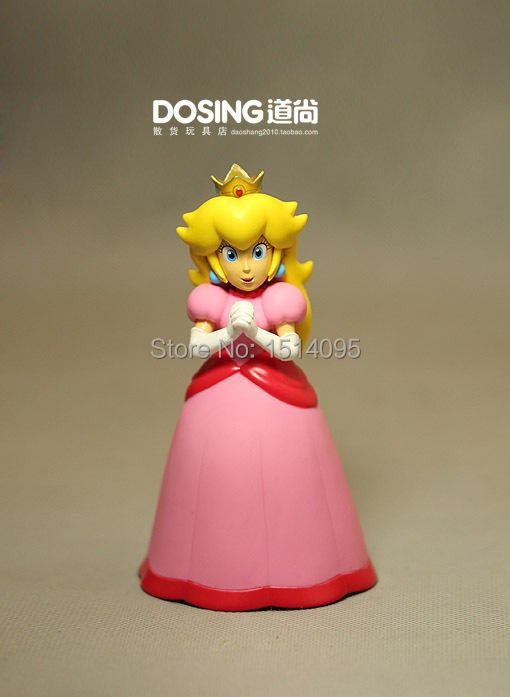 6 14CM Super Mario Bros Figures Princess Peach PVC Action Figure Model Toy Doll  Anime SM039