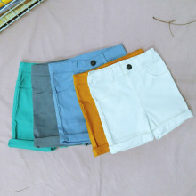 Children springy tailored trousers spring summer autumn kids short pants baby girls boys casual fashion children's clothing