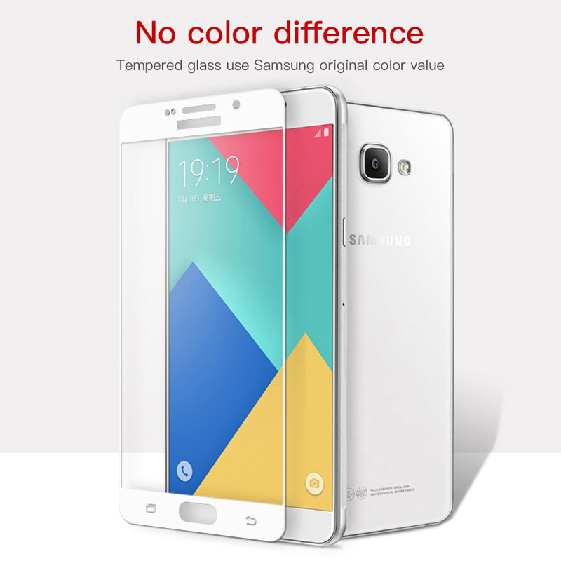 Image 5 - Protective glass on for samsung galaxy a5 a7 2016 2017 samsyng a6 a8 plus 2018 a3 a 5 7 5a samsumg screenprotector tremp glasses-in Phone Screen Protectors from Cellphones & Telecommunications