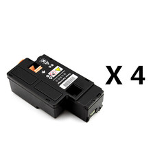4 Black Toner Cartridges For Xerox Phaser 6010 6000/ Workcentre 6015 6015V