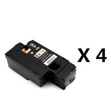 4 Black Toner Cartridges For Xerox Phaser 6010 6000/ Workcentre 6015 6015V 2015 new [hisaint] 4pk for xerox phaser 6121 6121mfp toner cartridges set