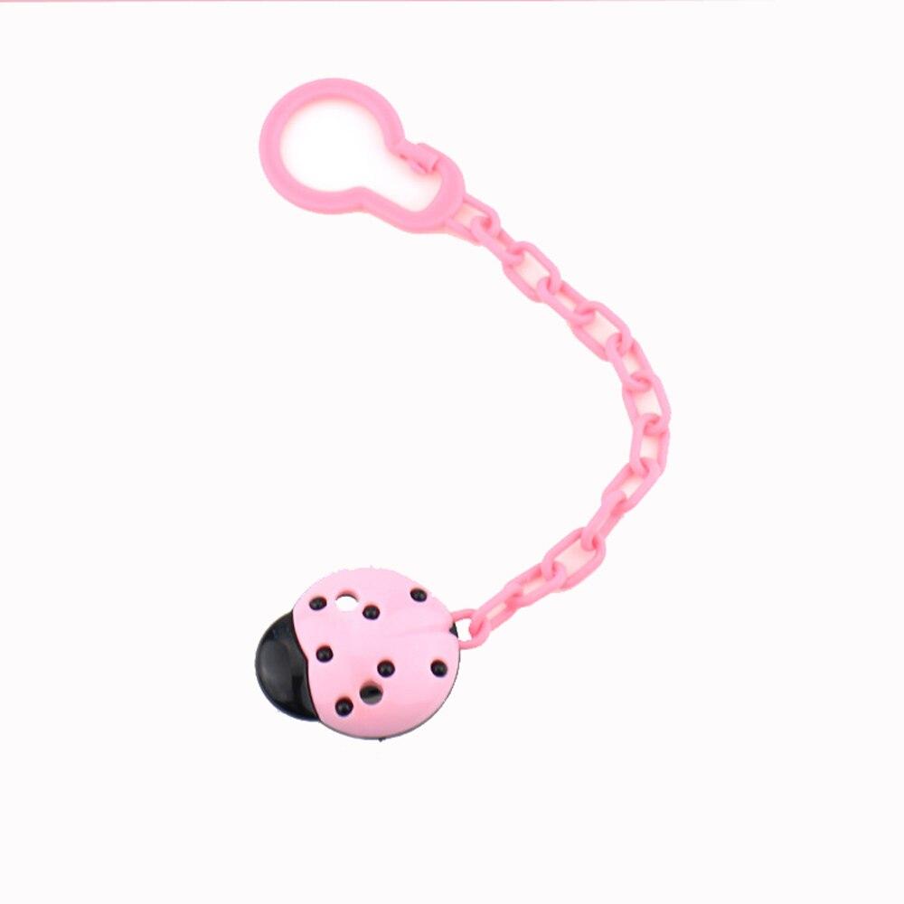 Цепочка на соски для младенцев; цепочка на соски для новорожденных; подарок для малышей; милая пустышка; 4 цвета; креативный держатель для зубов - Цвет: pink