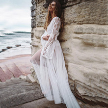 Beach Outings For Women 2019 Women's Tunic Cover Ups Cape On Swimsuit White Skirt Lace Embroidery Dress Floral Acetate