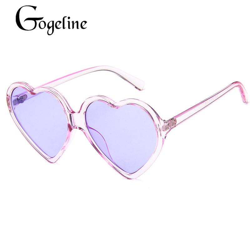 Heart Shape Sunglasses Womens Cute Heart Frame Mirror Lens UV 400