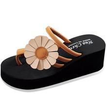 дешево!  2019 летние шлепанцы женские тапочки цветочные туфли на танкетке женская обувь чешские туфли на плат Л