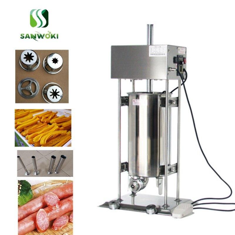 12L Electric Auto Spanish Donut Churrera Churros Maker Machine w// Fryer /& Filler
