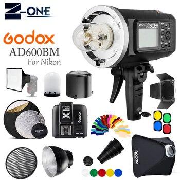 Godox AD600BM 600Ws GN87 Photo Flash Strobe Studio Bowens Mount HSS 1/8000 Outdoor+X1T-N Wireless Trigger for Nikon