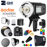 Godox AD600BM 600Ws GN87 Photo Flash Strobe Studio Bowens Mount HSS 1/8000 Outdoor+X1T N Wireless Trigger for Nikon