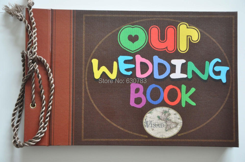 free shipping photo album our wedding book & adventure book Loose-leaf Notebook photo album best gift for lover & wedding free shipping home decor photo album my adventure book pixar up film adventure book loose leaf photo album as birthday gift