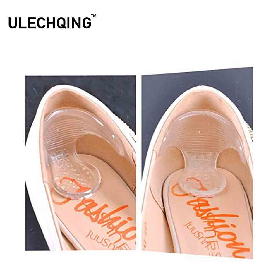 ULECHQING Non Slip Inserts Silicone insoles Shoes Pads Orthopedic Insole Health Feet Care Painful Relief Protector Foot Massager