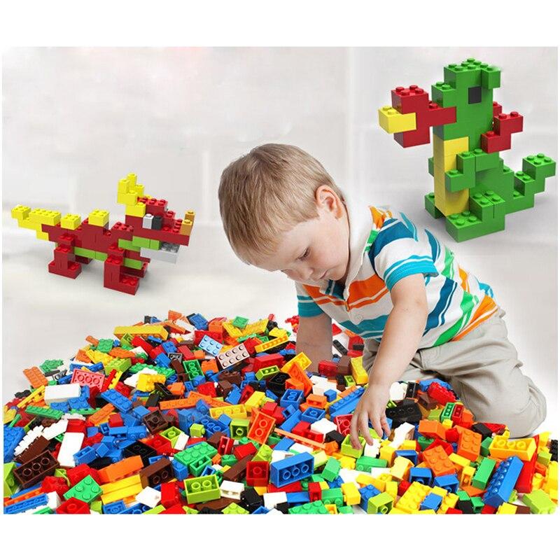 1200 Pcs Building Blocks DIY Legoings City Creative Bricks Set Toy Model Educational Bulk Toys for Children Birthday Gift J03201