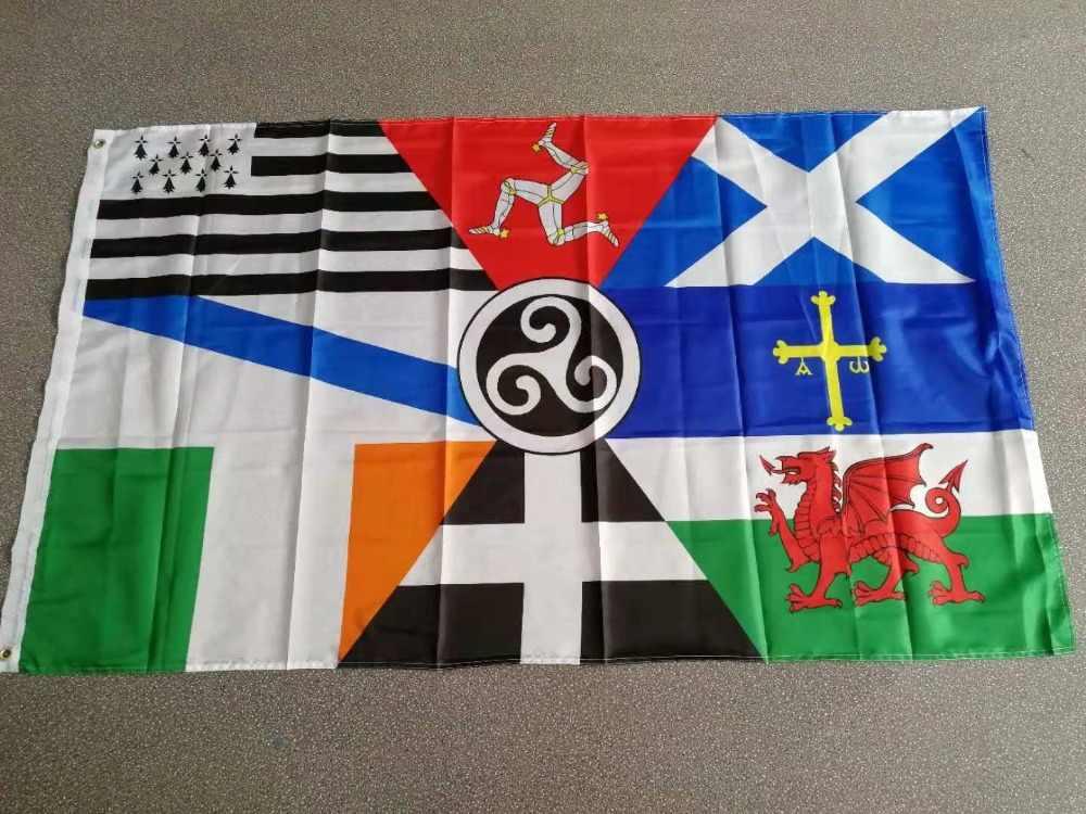 Johnin 90*150 см Европейский панкельтский флаг Наций Ирландия Шотландия Уэльс Бретань