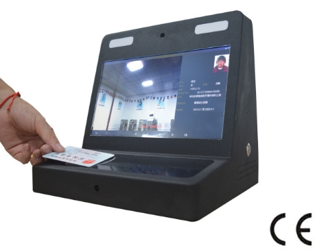 Security Guard Visitors Check In/out Time Management Face And ID Recognition Pc Desktop With 10.1 Inch Face Recognition