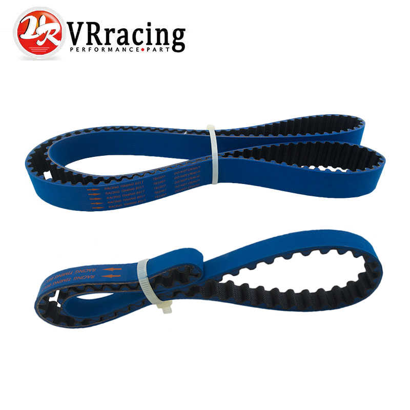 VR RACING - HNBR Racing Timing Belt + Balance FOR EVO 1-9 4G63 BLUE VR-TB1007+1007-1B