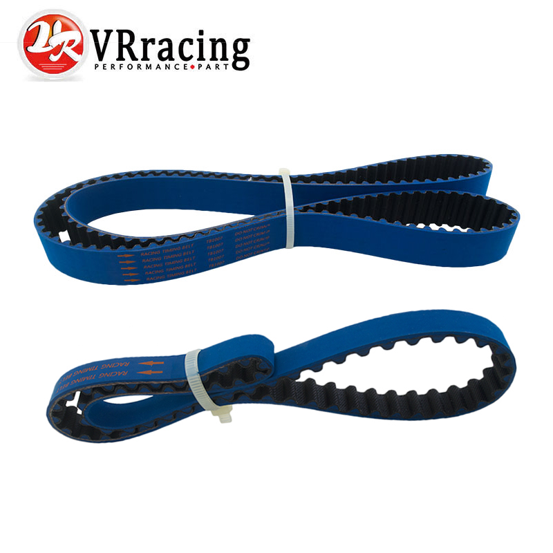VR RACING - HNBR Racing Timing Belt + Balance FOR EVO 1-9 4G63 BLUE VR-TB1007+1007-1B цены