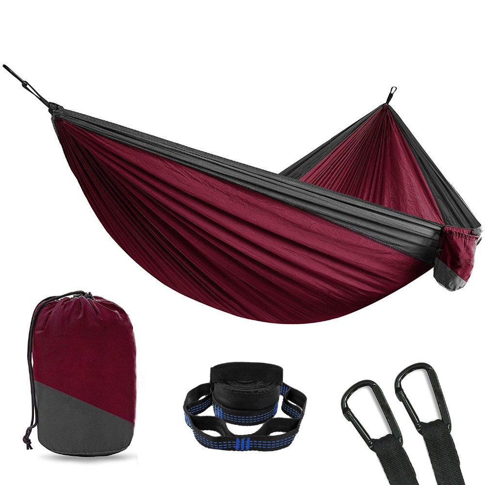 Portable Leisure Outdoor Hammock Parachute Hamac Outdoor Furniture Ultralight Camping Hammock Park Swing Double Chair Soft Bed гетры salomon salomon exo calf
