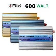 Внутрисетевой инвертор 600 Вт, 18 В постоянного тока, вход 220 В, выход переменного тока с функцией MPPT, 99% КПД, чистая Синусоидальная волна для систем солнечной энергии