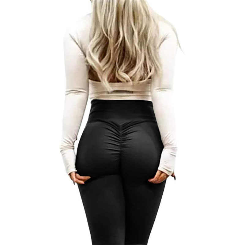 33e6e56b641d2 NINGMI Fitness Pants Women Sexy Butt Lifter Leggings Body Shaper Waist  Trainer Workout Tights Compression Booty