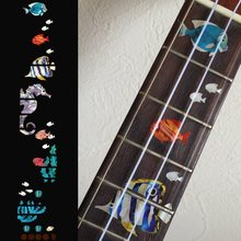Fret Markers Inlay Sticker Decals For Sorprano/Concert/Tenor Ukulele, Small Sea World – Under The Sea