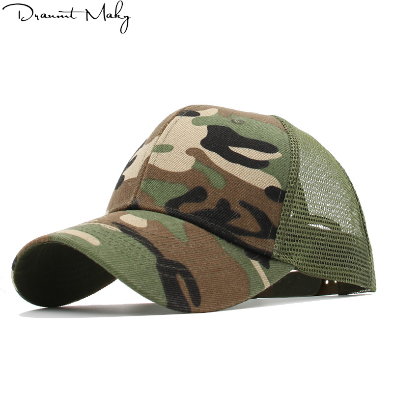 Camo hat   Baseball     Caps   Men Women's   cap   male Snapback Hip Hop Hat dad hat Summer Breathable Mesh Gorras Unisex Streetwear Bone