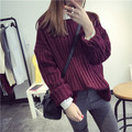 2016 NEW fashion Women Winter Oneck Pullover  Women Warm Sweaters   Women  Sweater hot sale