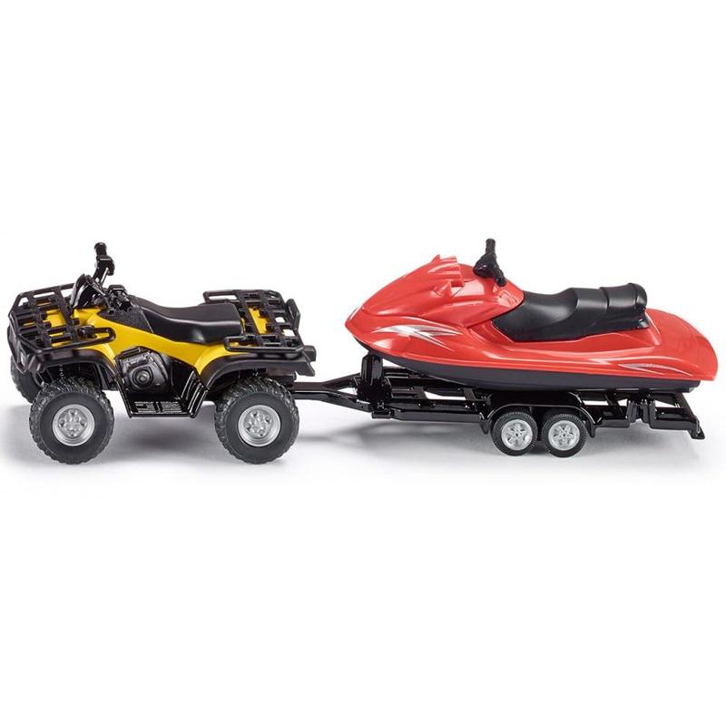 SIKU 1:50 Alloy Dune Buggy Car Toy Simulation Jet Ski Boat Motorboat Model ATV All Terrain Vehicle Toys For Children Brinquedos
