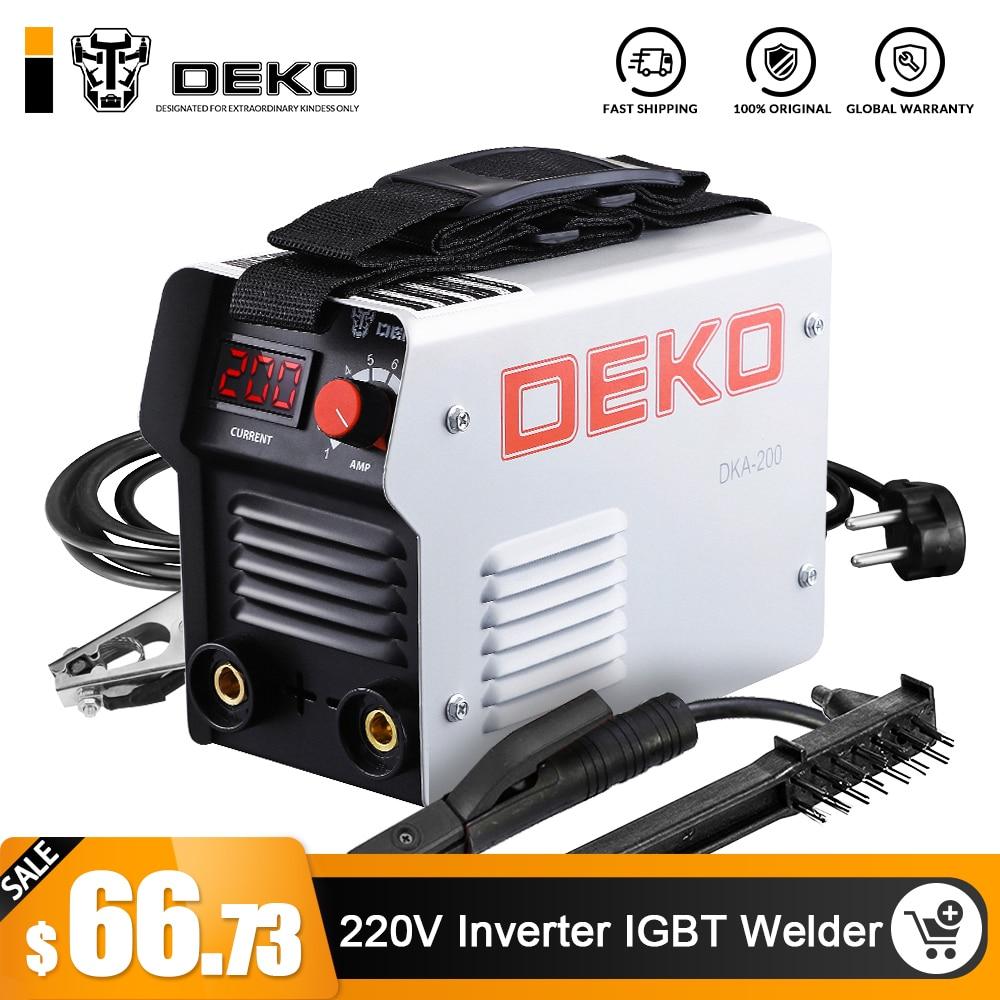DEKO DKA Série DC Inverter ARC Welder 220 V IGBT MMA Máquina de Solda 120/160/200/250 amp para Casa Novato Leve Eficiente