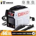 DEKO DKA Series DC Inverter ARC Welder 220V IGBT MMA Welding Machine 120/160/200/250 Amp for Home Beginner Lightweight Efficient