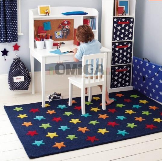 Настройка современные ковры ручной работы гостиной Спальня модные креативные голубая звезда шаблон