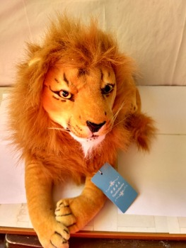new lovely plush lion toy stuffed simulation lying lion doll gift about 70cm 0567