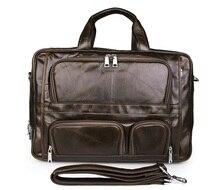 Vintage Leather Handbags JMD Men's Top Handle Briesfcase Bag 7289C