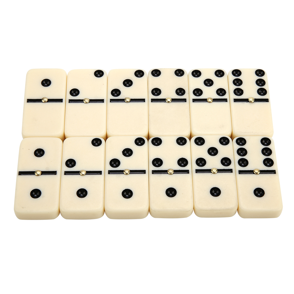 Funny Mini Dominoes 28 Piece White with Black Spots Dots Traditional Game  Domino Games Play Set Educational Toy for Children kid|Domino| - AliExpress