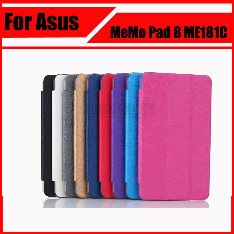 Wholesale Top Quality PU Leather Case Cover For Asus MeMO Pad 8 ME181C ME181 K011 + Stylus beautiful gitf new luxury stand case cover for asus memo pad 7 me176c me176cx tablet wholesale price jan16