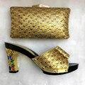 2017 Nueva Moda Zapatos Italianos Con Bolsos A Juego Para El Partido de Alta calidad Zapatos Y Bolsa De Zapatos Y Bolsas Establecidas Para la Boda Africana conjunto