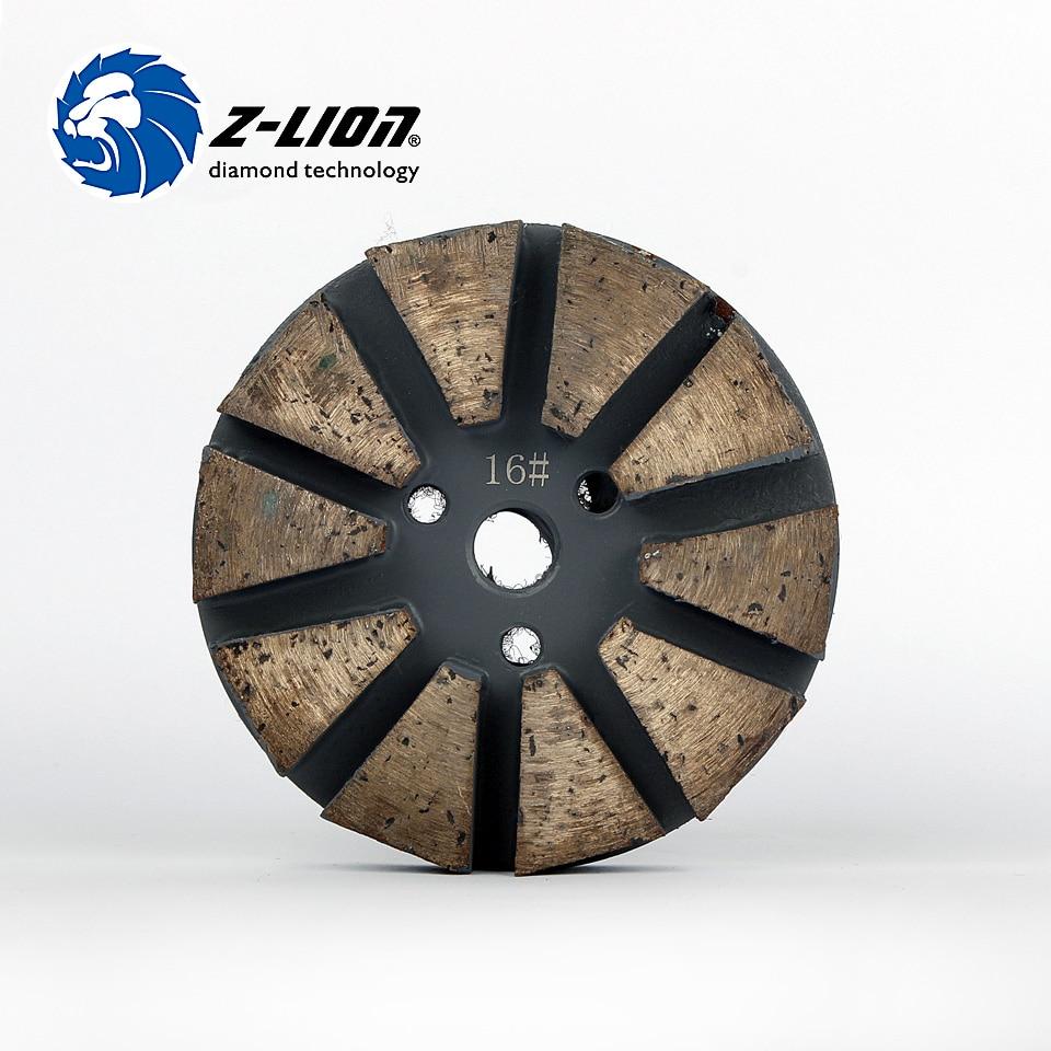 Z-Lion 3 Metal Diamond Tools For Concrete Polishing Wet Grinding Disc Metal Bond Diamond Polish Concrete Metal Polishing Tool metal bond 10pcs 3 diamond grinding cup