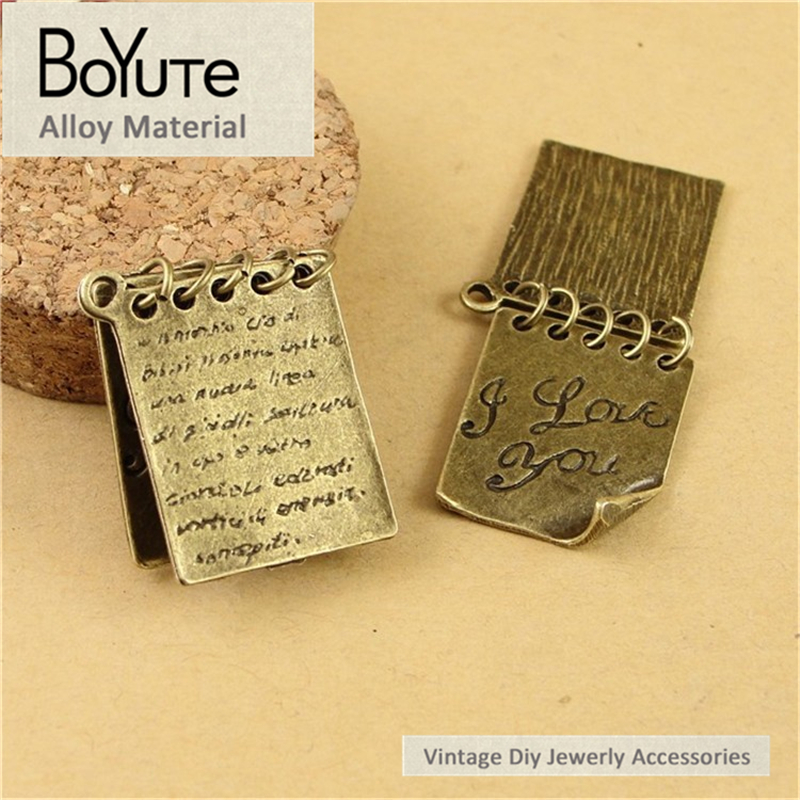 BoYuTe (40 Pieces /lot) 26*20MM Antique Bronze Plated Zinc Alloy Word Charms Pendant Jewelry Findings Materials