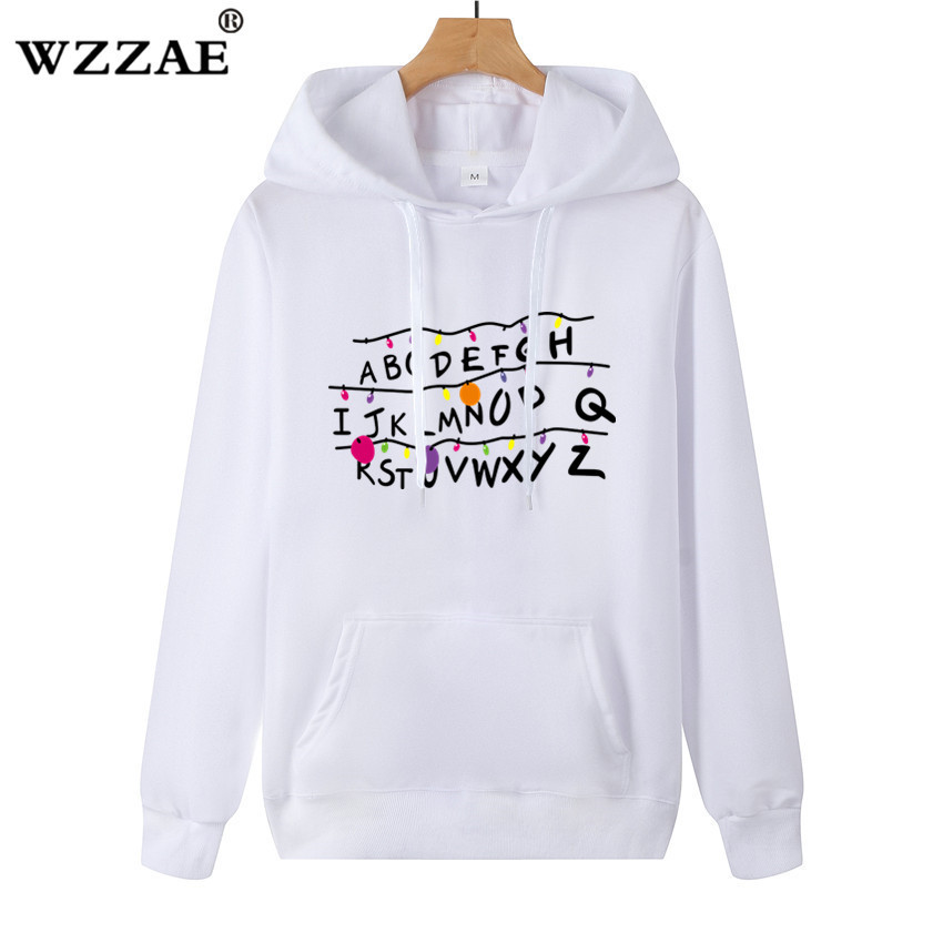 New Trendy Faces Stranger Things Hooded Mens Hoodies And Sweatshirts Oversized For Spring With Hip Hop Casual Hoodies Men Brand