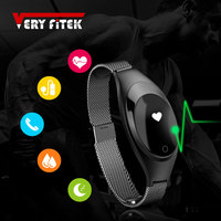 VERYFiTEK V18 Smart Wristband Heart Rate Tracker Fitness Watch blood pressure monitor Bracelet for IOS Android pk mi band 2