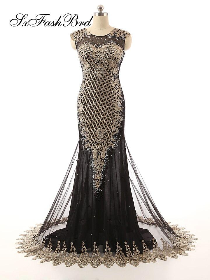 Vestidos Largos O Neck Mermaid With Appliques Elegant   Dress   Long Formal   Evening     Dresses   Women Party Prom   Dress